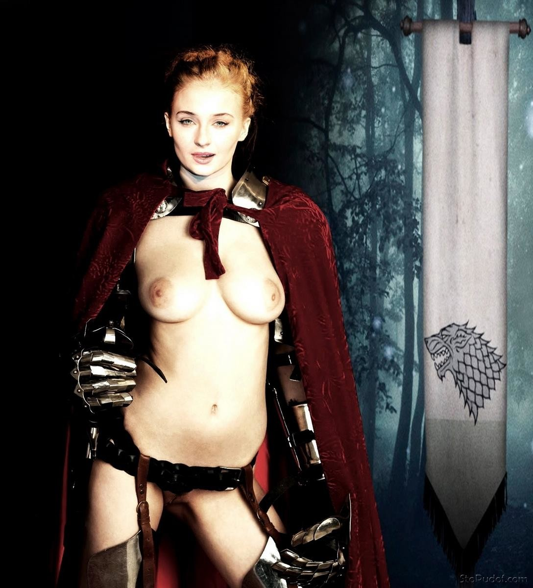 Sophie Turner nude body paint - UkPhotoSafari
